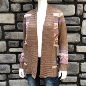 Print Cardigan Sweater by Pink Rose NWT sz L